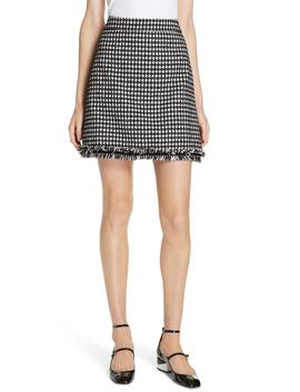 Houndstooth Tweed Miniskirt by Kate Spade New York