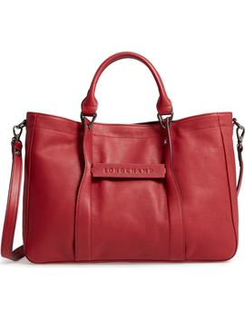 '3 D   Small' Leather Tote by Longchamp