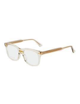 Rounded Transparent Acetate Optical Glasses by Gucci