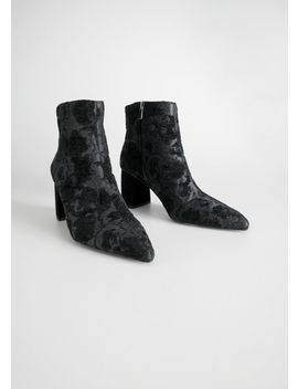Metallic Jacquard Ankle Boots by & Other Stories