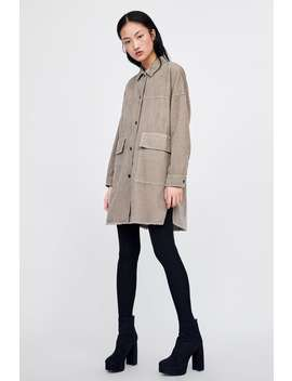 Corduroy Overshirt With Pockets  View All Coats Woman by Zara