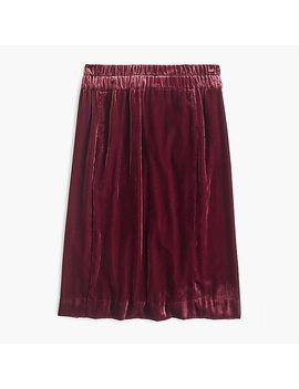 Petite Pull On Velvet Skirt by J.Crew