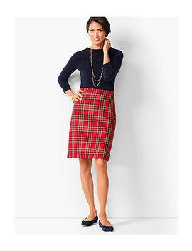 Tartan Plaid A Line Skirt by Talbots