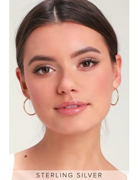 Addilyn Gold Hoop Earrings by Lulus