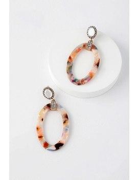 Just Like Love Multi Marbled Rhinestone Acetate Earrings by Lulus
