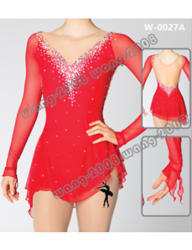 Girl Competition Figure Skating Dress Ice Skating Dress Costume Sparkle Red by Rd Wang