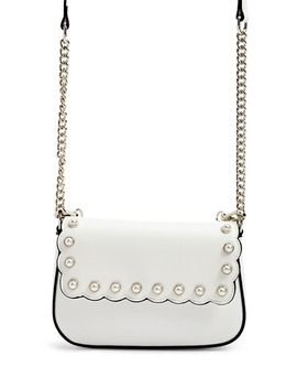Scalloped Faux Pearl Handbag by Forever 21
