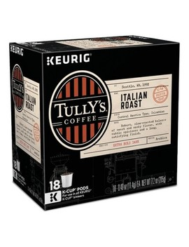 Tully's Coffee Italian Roast Dark Roast Coffee   Keurig K Cup Pods   18ct by Tully's