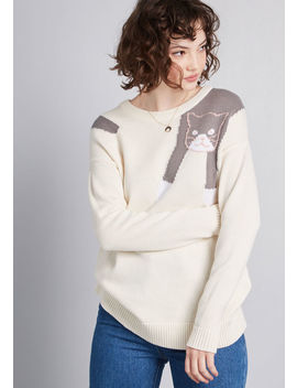 Hang In There Cat Sweater by Modcloth