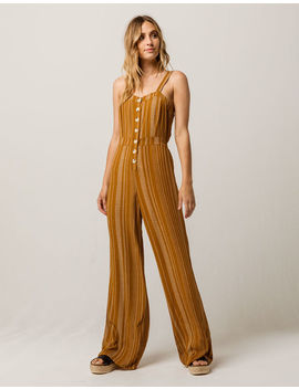 Sky And Sparrow Button Front Womens Jumpsuit by Sky And Sparrow
