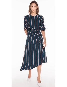 Bold Stripe Asymmetric Dress by Cue