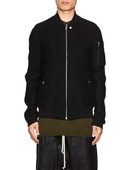 Boiled Virgin Wool Bomber Jacket by Rick Owens