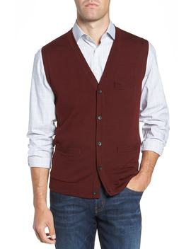 Merino Button Front Sweater Vest by Nordstrom Men's Shop