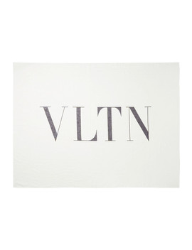 Reversible Printed Cotton And Silk Blend Twill Scarf by Valentino