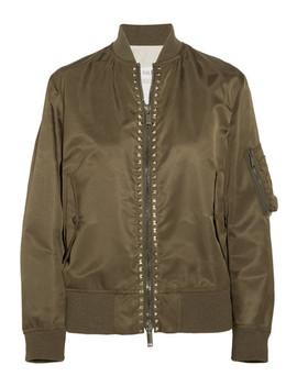 The Rockstud Satin Bomber Jacket by Valentino