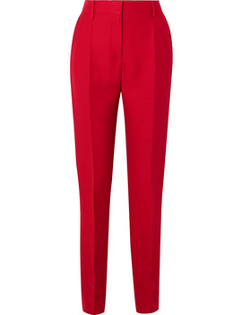 Silk And Wool Blend Slim Leg Pants by Valentino
