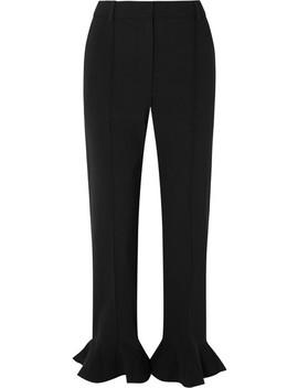 Ruffled Cady Straight Leg Pants by Valentino