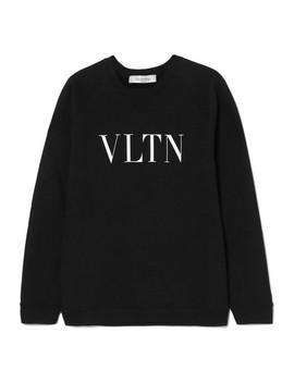 Printed Cotton Terry Sweatshirt by Valentino