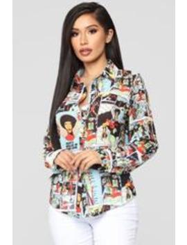 In The Scene Button Down Shirt   Multi by Fashion Nova