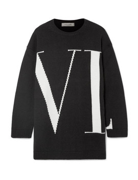 Oversized Intarsia Cashmere Sweater by Valentino