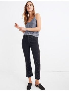 Cali Demi Boot Jeans: Scattered Metallic Dots Edition by Madewell
