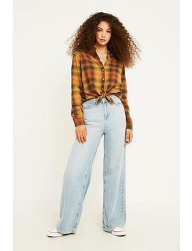 Uo Eli Perfect Button Through Flannel Shirt by Urban Outfitters