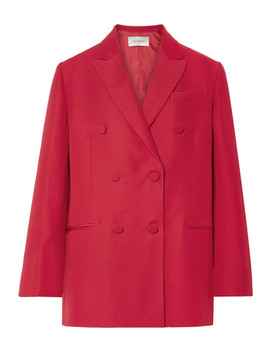 Oversized Silk And Wool Blend Crepe Blazer by Valentino