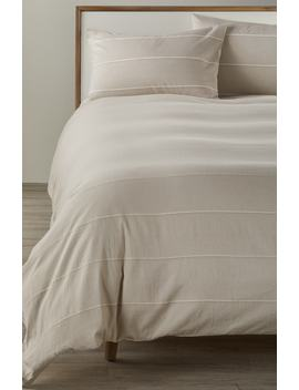 Textured Stripe Duvet Cover by Treasure & Bond