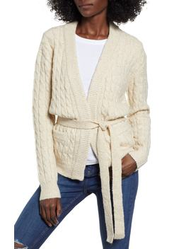 Cable Knit Cardigan by Moon River