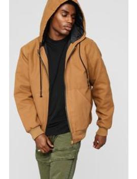 Montana Zip Up Hoodie   Tan by Fashion Nova