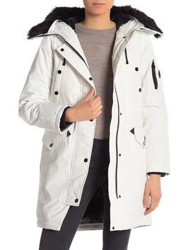 Missy Faux Fur Hooded Jacket by Michael Kors