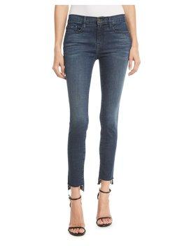 Le Skinny De Jeanne Raw Stagger Hem Skinny Jeans by Frame