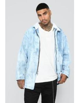 Shia Long Line Denim Jacket   Blue Wash by Fashion Nova