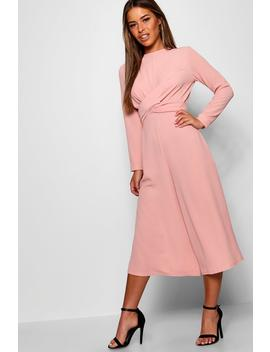 Petite Knot Front Culotte Jumpsuit by Boohoo
