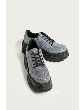 Uo Tyson Silver Glitter Chunky Trainers by Urban Outfitters