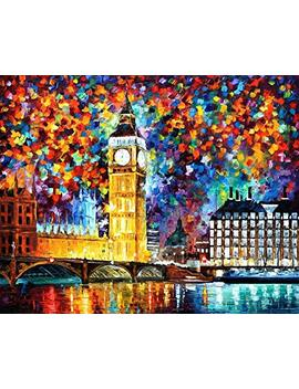 Paint By Numbers For Adults Kits Canvas Diy Acrylic Oil Painting Frameless London Big Ben 16 X 20 Inches by Crafts Graphy