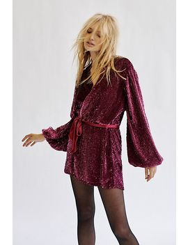 Annmarie Sequins Mini Dress by Free People
