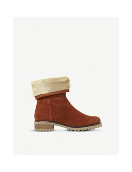 Driller Suede And Faux Fur Boots by Steve Madden