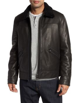 Kilmer Genuine Shearling Bomber Jacket by Andrew Marc