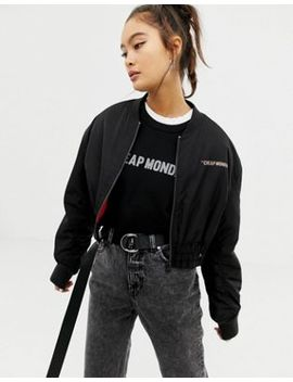 Cheap Monday Recycled Polyester Crop Jacket by  Cheap Monday