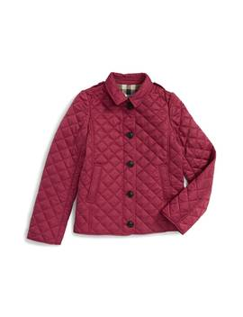'mini Ashurst' Quilted Jacket by Burberry