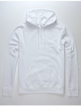 Independent Trading Company White Mens Hoodie by Independent Trading Company