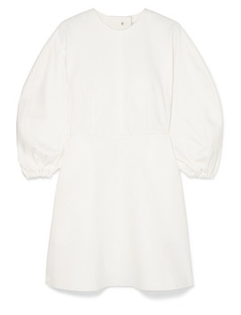 button-embellished-stretch-jersey-mini-dress by tibi