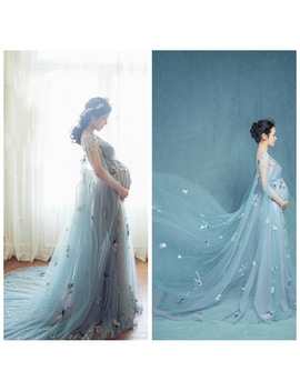 Maternity Dresses For Photo Shoot Wedding Party Long Pregnant Women Dresses For Baby Showers Fancy Maternity Photo Shooting by Ali Express