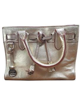 D&B Mini Gold Leather Wristlet by Dooney & Bourke