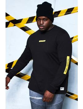 Big And Tall Man Certified Printed Long Sleeve T Shirt by Boohoo