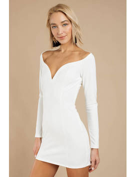 Can't Stay White Bodycon Dress by Tobi