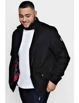 Big And Tall Harrington Jacket With Lining by Boohoo