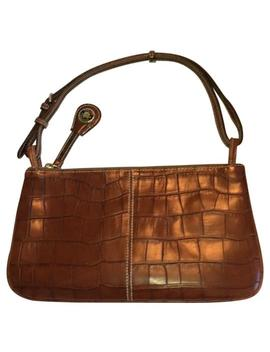 And Slim Brown Leather Clutch by Dooney & Bourke