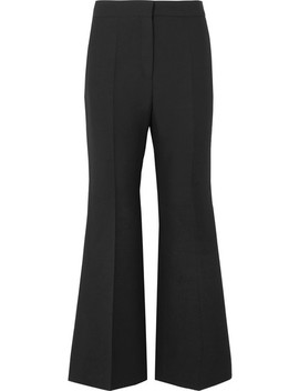 Wool And Silk Blend Crepe Cropped Wide Leg Pants by Valentino